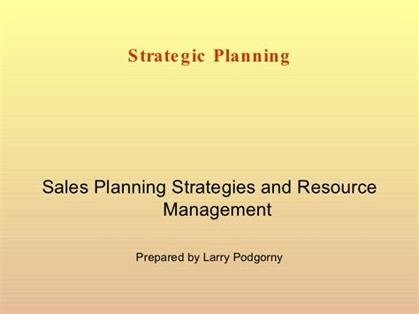 Strategic Planning Powerpoint Presentation Sle Marketing Plan Powerpoint