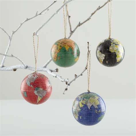 a globe christmas tree theme green globe ornament in all