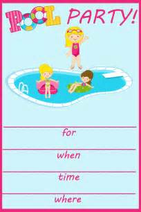 items similar to pool fill in birthday invitation on etsy
