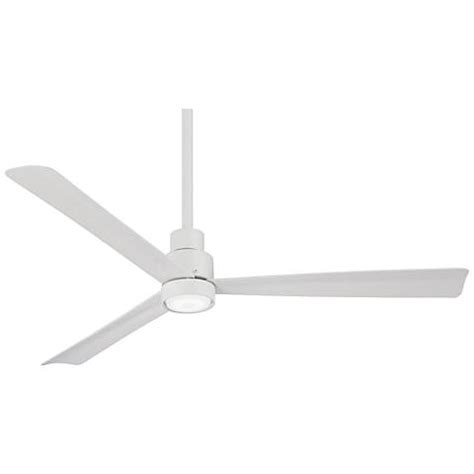 52 Quot Minka Aire Simple White Ceiling Fan With Led Light Kit