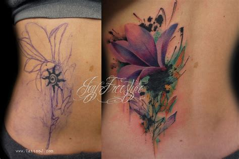 design my cover up hibiscus flower cover up tattoo design photo 3 ideas