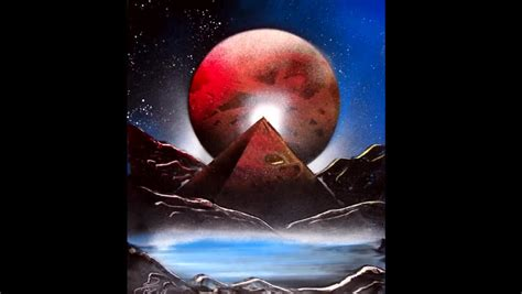 spray paint how to make mountains make your own spray paint space painting in one minute