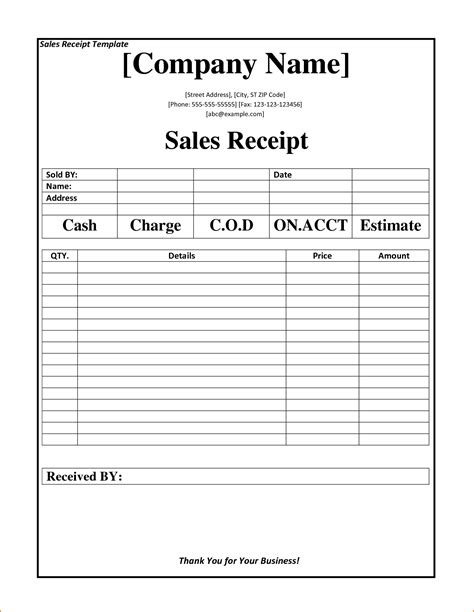 free business receipt template 2 business receipt template teknoswitch