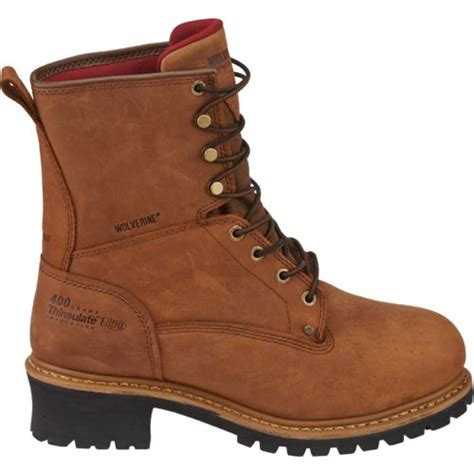 insulated mens work boots wolverine s snyder insulated waterproof steel toe eh