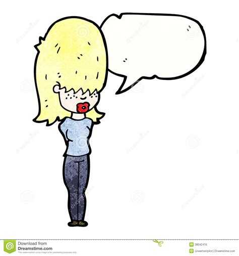 big hair cartoon cartoon woman with big hair talking royalty free stock