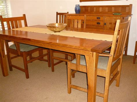 Stickley Dining Tables Stickley Style Dining Table By Tbone Lumberjocks