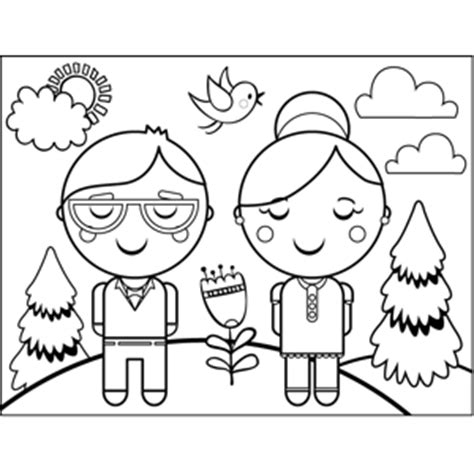 coloring pages for elderly the elderly colouring pages