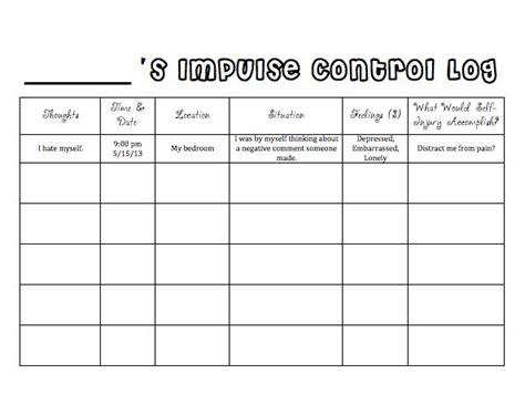 Managing Impulsivity Worksheets by The 25 Best Impulse Ideas On