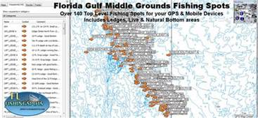 fishing map of florida florida middle grounds florida fishing maps for gps