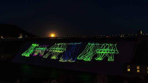 grand coulee dam laser light grand coulee dam laser light show in 40 seconds time lapse