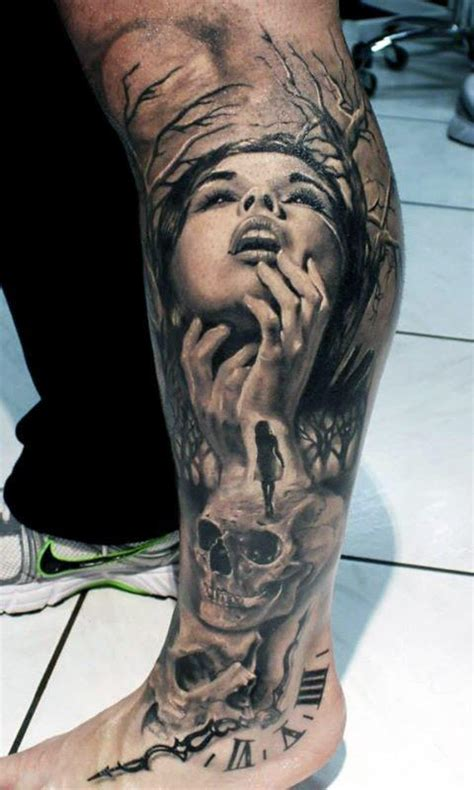 tattoo designs for mens legs 50 designs for masculine ink ideas
