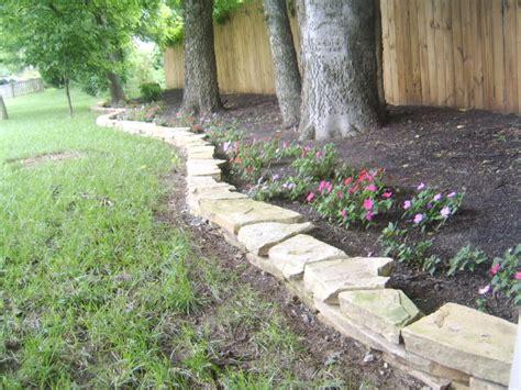 flagstone landscape garden wall