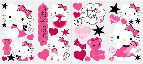 hello kitty stickers for bedroom walls 38 new hello kitty couture wall decals girls bedroom stickers pink room decor ebay