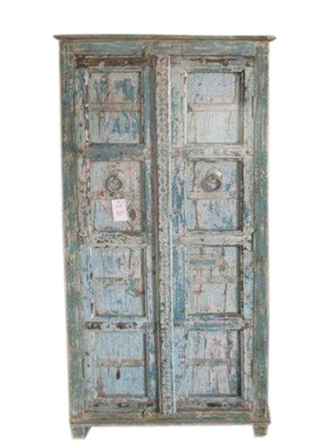 Armoire Patinée by Antique Armoire Reclaimed Blue Patina Storage Indian