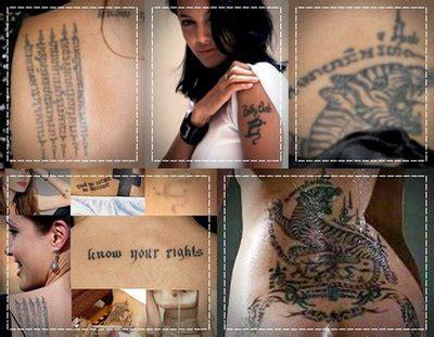 Angelina Jolie Lion Tattoo   angelina jolie back tattoo tattoo pictures online