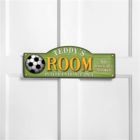personalized room sign kick it up personalized room