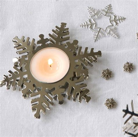 snowflake tea light holders silver snowflake tea light holder by the home
