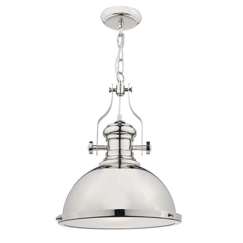 Chrome Light Pendant Arona Polished Chrome Pendant Light Nicholas Interiors