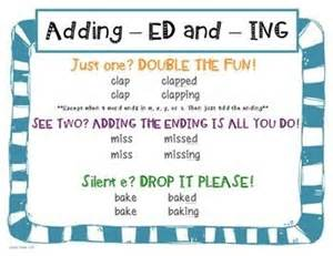 ed and ing word endings leveled center activities words