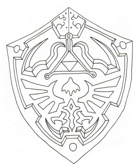 Hylian Shield Outline by Link S Shield By Ighbonk On Deviantart