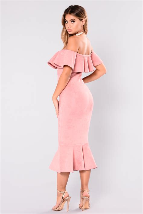 dsbm223781 pink dress dress pink aliana suede dress dusty pink