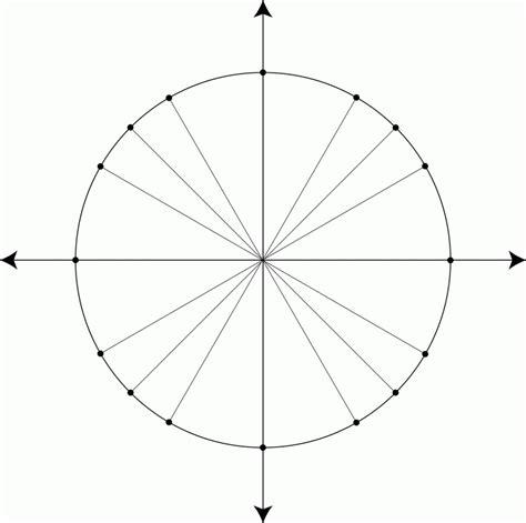 printable unit circle printable blank unit circle worksheet template pdf