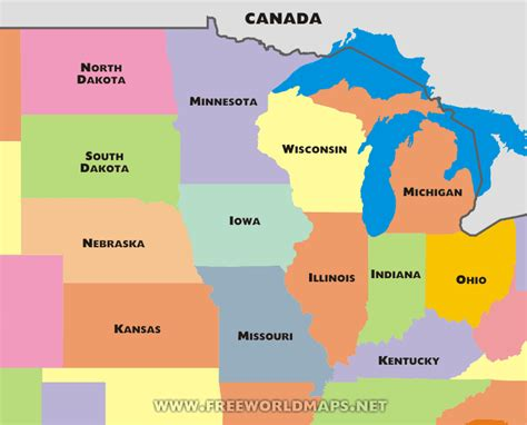 map of midwest states midwestern united states middle west u s midwest u s