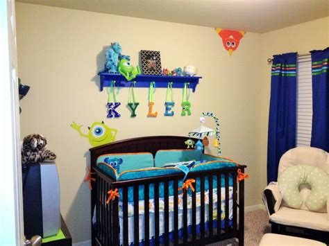 monsters inc curtains our crib from monsters inc nursery wooden peg shelf was