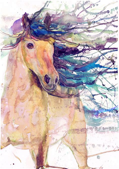 printable horse art horse print equestrian equine art abstract horse painting