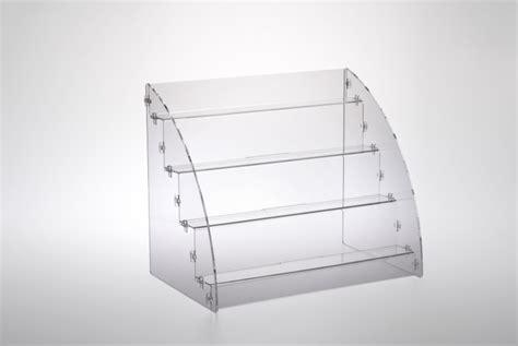cappelli per lade da tavolo espositore per prodotti da banco a 4 piani in plexiglass