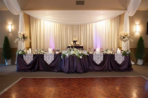 Head Table; I like the cake behind the head table so you