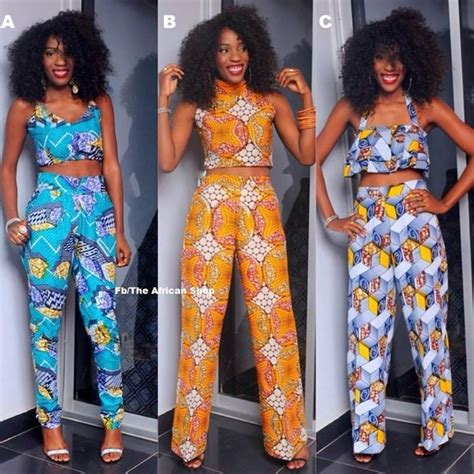 African Print Crop Top African Clothing African Fashion | african print crop tops matching pants latest african