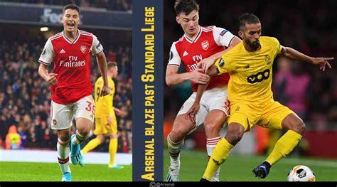 europa league  arsenal  standard liege highlights