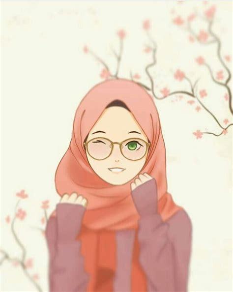 gambar kartun berhijab  foto profil gambar
