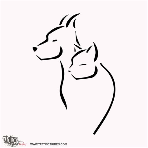 Home Design Sketch Free by Tattoo Of Cat And Dog Shelter Tattoo Custom Tattoo