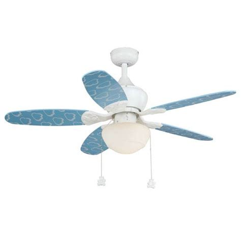 a ceiling fan with 16 in blades