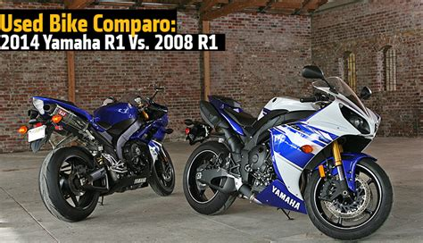 r1 vs vs new yamaha 2014 yzf r1 vs 2008 yzf r1 rideapart