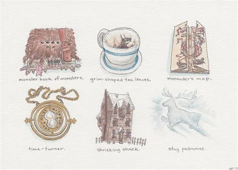 harry potter coloring book artifacts harry potter inspired illustrations a series of artifacts