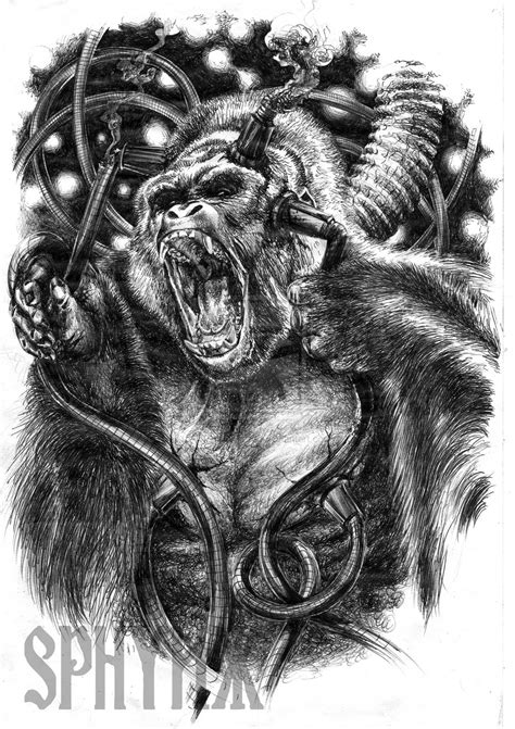 silverback gorilla tattoo silverback designs best image hd