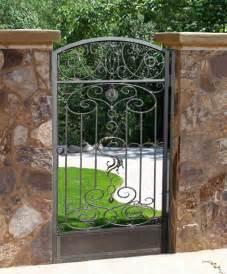 Iron Garden Gate Wrought Iron Garden Gates