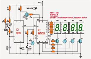 simple digital stopwatch circuit electronic circuit projects