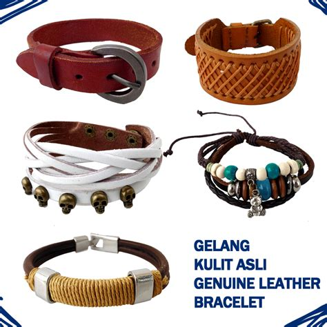 Grosir Gelang Kulit gelang kulit asli genuine leather gelang metal gelang