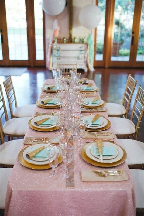 bridal shower table settings 36 new year s eve bridal shower ideas happywedd com