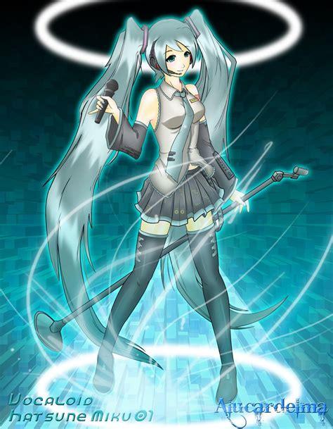 Kaos Anime Miku 01 hatsune miku 01 vocaloid 3 by alucardelma on deviantart