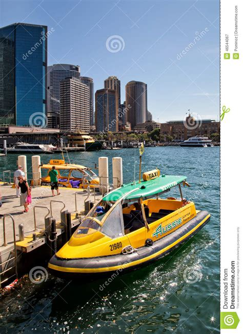 taxi boat sydney sydney water taxi editorial photography image 46544067