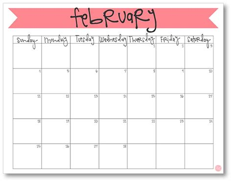 free printable a5 2018 monthly calendars live craft eat february 2018 calendar free printable live craft eat