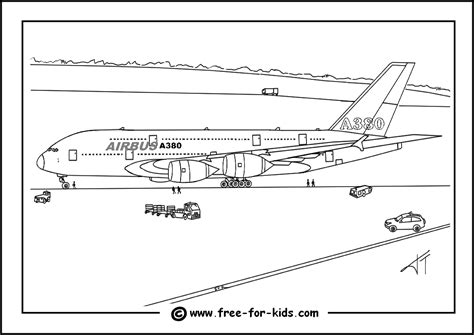 A380 Coloring Pages free coloring pages of airbus a380