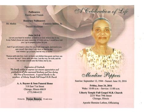 mordine peppers obituary aa rayner and sons funeral home