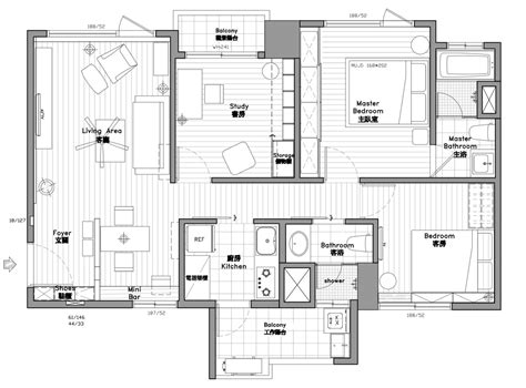 square meters 2 bedroom modern apartment design under 100 square meters