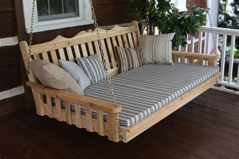 wooden swing bed cedar royal english swing bed by dutchcrafters amish furniture